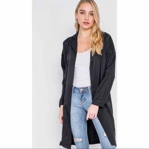 Jackets & Blazers - Black Trench Coat